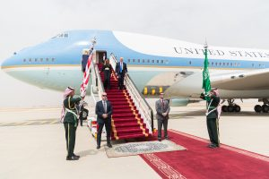 President Trump lands in Saudi Arabia for red carpet welcome in the Arab World's leading nation on Saturday May 20, 2017. Photo courtesy of the White House