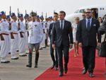 le President Francais Emmanuel Macron et le-roi du-Maroc Mohammed vi-a Rabat le 14 Juin 2017