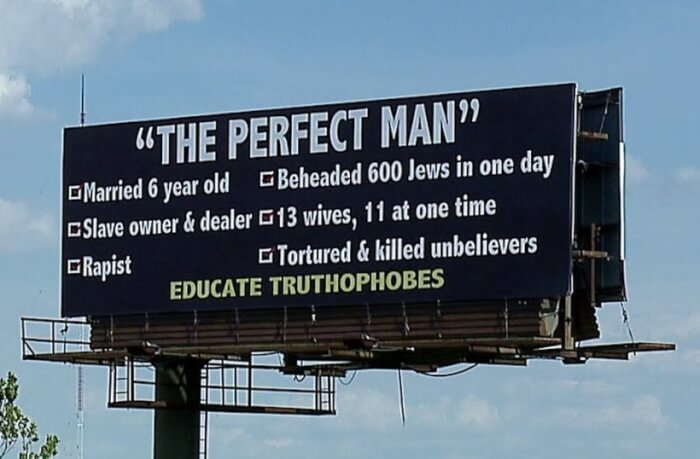 Muslims Respond to Perfect Man (Muhammad pbuh) – Bill Boards