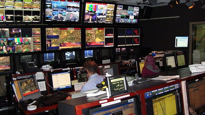 Control room of Arabic-language satellite TV channel Alhurra, June 2008 (Photo credit: Wikipedia)