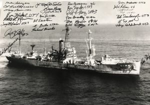 Signed by USS LIBERTY Vets at 50th Reunion in Norfolk, VA. June 2017