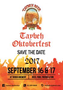 Taybeh OctoberFest 2017 flyer
