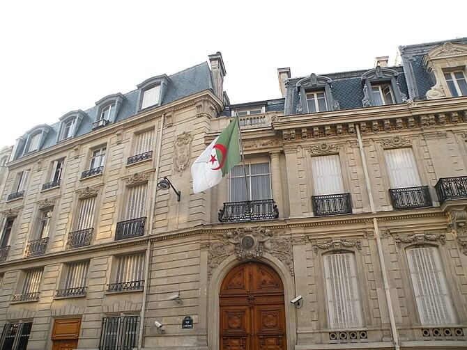 Algerian embassy in France, Paris.