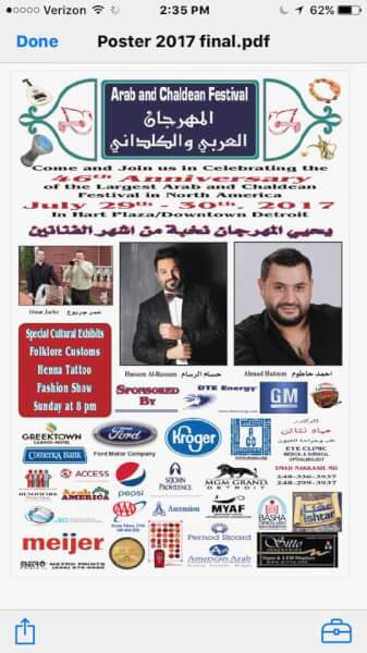 Arab & Chaldean Festival July 29-30
