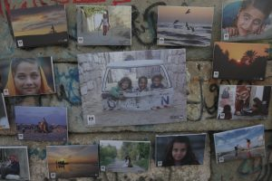 Exhibition of photographs of the daily life of Palestinians living under siege in the Gaza Strip, hosted by artist and photographer Fadi Thabit, July 2017. Photos courtesy of Mohammed Asad