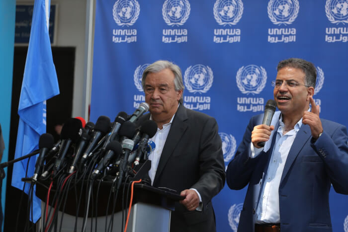 António Guterres, the ninth Secretary-General of the United Nations and Palestine Prime Minister Rami Hamdalah during a visit to Palestine August 29 and 30, 2017. Photo courtesy of Mohammed Asad.