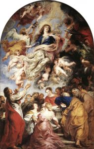 Peter Paul Rubens painting of the Assumption of the Virgin Mary, Baroque, 1626. Photo courtesy of Wikipedia