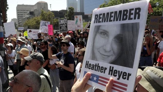 Magnifying Heather Heyer and POTUS Trump's Twitter BLOCK of COMMON DEFENSE
