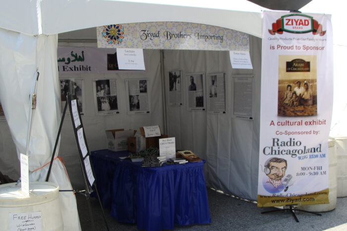 Inside the Tent at the Arabesque Festival in June 2010 when Richard M. Daley was mayor and before Mayor Rahm Emanuel racistly blocked involvement of Arabs in Chicago life. Photos by Ray Hanania
