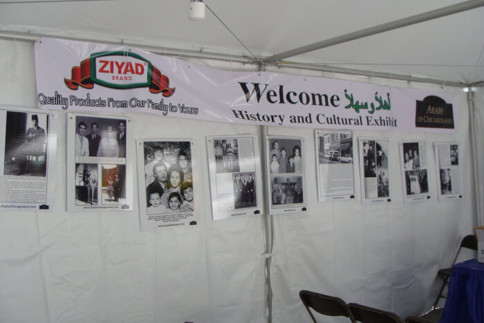 Inside the Tent at the Arabesque Festival in June 2010 when Richard M. Daley was mayor. Photos by Ray Hanania