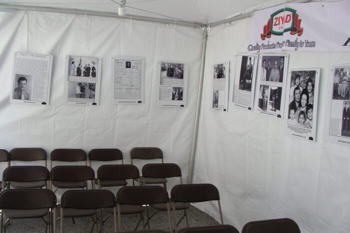 Display Tent at the Chicago Arabesque Festival from June 2010 when Richard M. Daley was mayor and before Mayor Rahm Emanuel racistly blocked involvement of Arabs in Chicago life. Photos by Ray Hanania