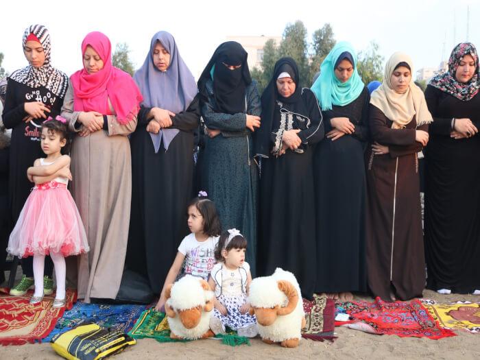 Eid al Adha prayers and celebrations in Saraya Square in Gaza City in the Gaza Strip. Photos by Ahmad Hasaballah
