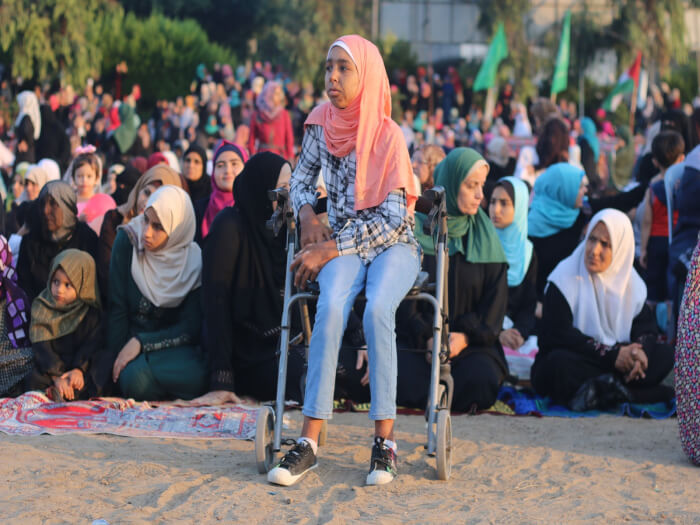 Eid al Adha prayers and celebrations in Saraya Square in Gaza City in the Gaza Strip. Photos by Ahmad Hasaballah