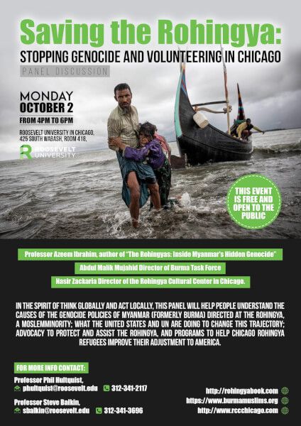 Saving the Rohingya: Stopping Genocide & Volunteering in Chicago Oct. 2