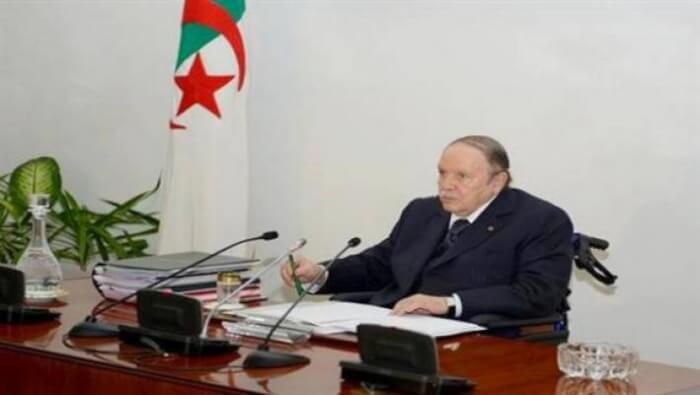 Pictured is Abdelaziz Bouteflika, has been the fifth President of Algeria since 1999. He was Minister of Foreign Affairs from 1963 to 1979.