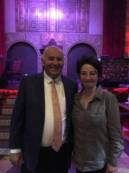 Gutierrez stands with Palestinian activist Haneen Zoubi