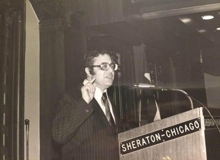 The late Arab League Ambassador Clovis Maksoud in 1976. Photo courtesy of Ray Hanania.
