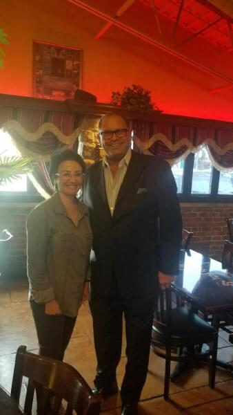 Haneen Zoubi poses with Chicagoland businessman Nemer Ziyad