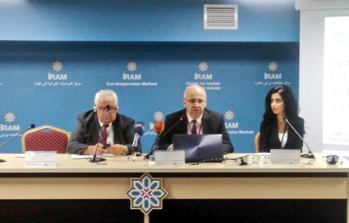 Discussion on Kurdish Independence from Iraq. Panelist Ahmet Uysal. Photo courtesy of Abdennour Toumi