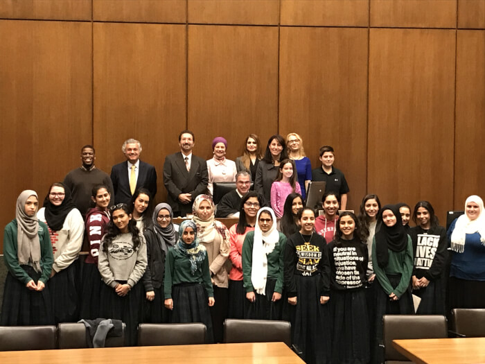 2017 Arab American Heritage Month tour of the Richard J. Daley Center hosted by Chief Judge Timothy Evans.
