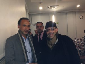 Tariq Ramadan with the author (right) Abdennour Toumi. Photo courtesy of Abdennour Toumi
