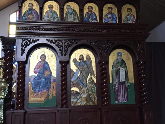 Christian Arab Orthodox icons of saints. Photo courtesy of Ray Hanania