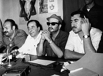 Yasser Arafat, Nayef Hawatmeh and Kamal Nasser...