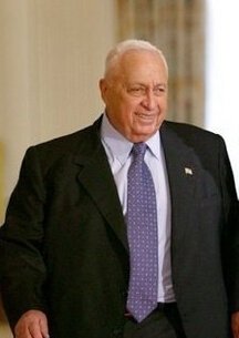Ariel Sharon at a visit to the White House, Ap...