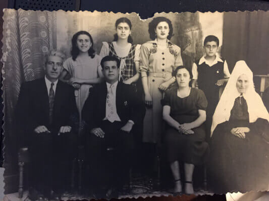 A proud Christian family from Bethlehem, before the violence of the Israel-Arab wars. Photo courtesy of Ray Hanania