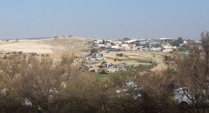 Umm al-Hiran where Israeli racism targets and expels non-Jews only from their homes to destroy this non-Jewish village in April 2018. Photo courtesy of Wikipedia