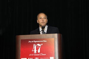 Omar Tawakol honored as Arab American of the Year at the 47th Annual Dinner of ACCESS in Detroit. Photo courtesy of ACCESS