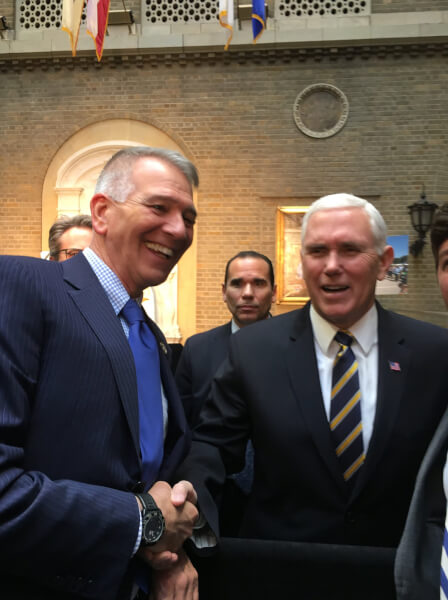 Congressman Ralph Abraham with Vice President Mike Pence. Courtesy of Congressman Ralph Abraham's facebook page