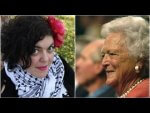 California State University Tenured Professor Randa Jarrar and the late former First Lady Barbara Bush from Youtube