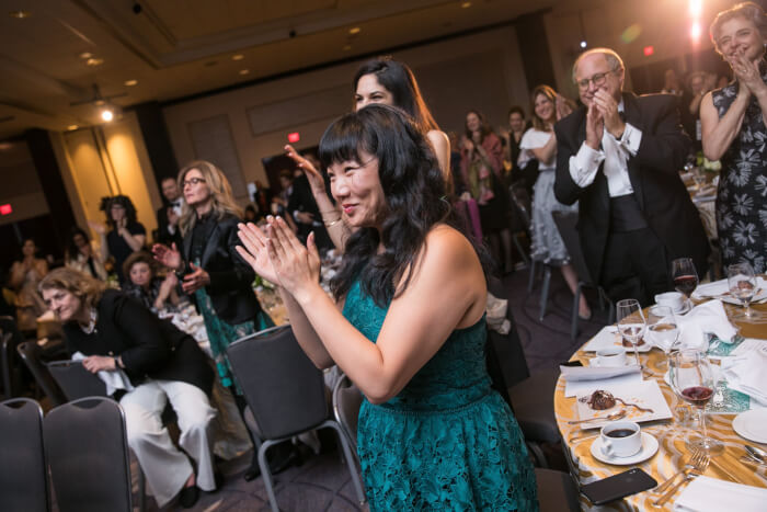 Audience members applaud award presentations at the 20th Annual AAI Khalil Gibran Spirit of Humanities Awards gala. Photo by Jason Dixson Photography. Photo courtesy of the AAI