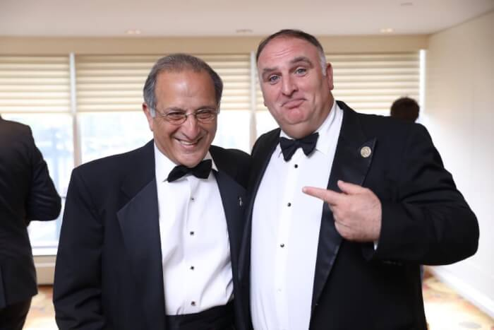 AAI President Jim Zogby and award recipient Jose Andres the 20th Annual AAI Gibran Gala. Photo by Jason Dixson Photography. Photo courtesy of the AAI