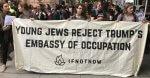5:39 AM - 14 May 2018. Israeli, Jewish peace groups protest US Embassy move May 14, 2018