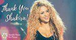 International musician, dancer, and entertainer Shakira cancels her appearance in Tel Aviv, Israel, May 29, 2018. Image courtesy of Jewish Voice for Peace