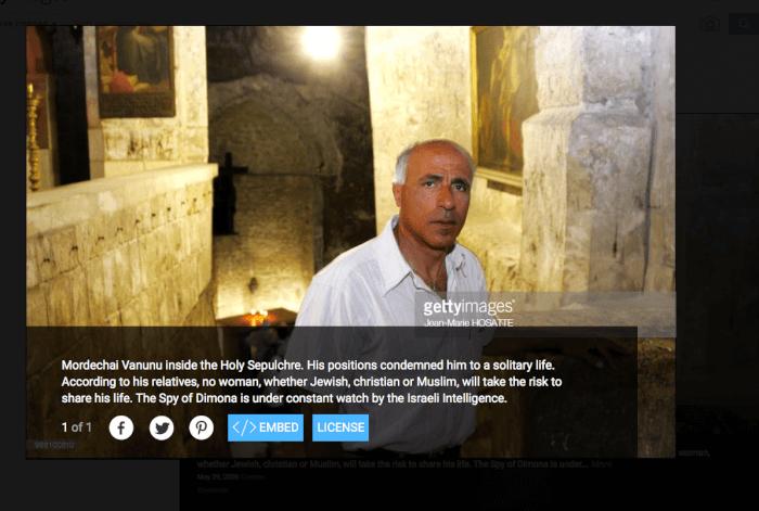 Mordechai Vanunu Reports Latest News; Trio of Google Alerts and a Portrait of Vanunu