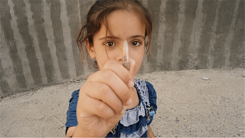 "Iraqi girl from the PBS documentary ""Nowhere to Hide"" Airing August 27, 2018 on PBS"