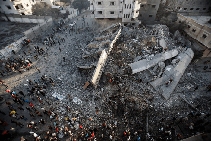 In a terrorist attack targeting civilians, Israel's military attacked and destroyed Gaza's al-Mishal (Meshal) Performing Arts Center. The violence is a part of Israel's on-going campaign to kill Christians and Muslims in the Holy Land
