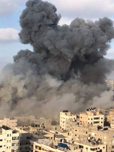 Israel targets civilians, destroys Gaza's al-Mishal Theater