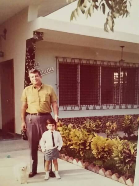 Palestinian Assad Shorrosh in the early 1970s at his home in South America, one family of thousands that settled and worked in Venezuela. Photo courtesy of Ray Hanania