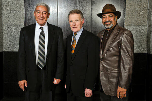 ADC National President, Illinois House Speaker Michael J. Madigan, and Hollywood actor Sayed Badreya at a dinner honoring Ziyad Brothers Importing in May 2011