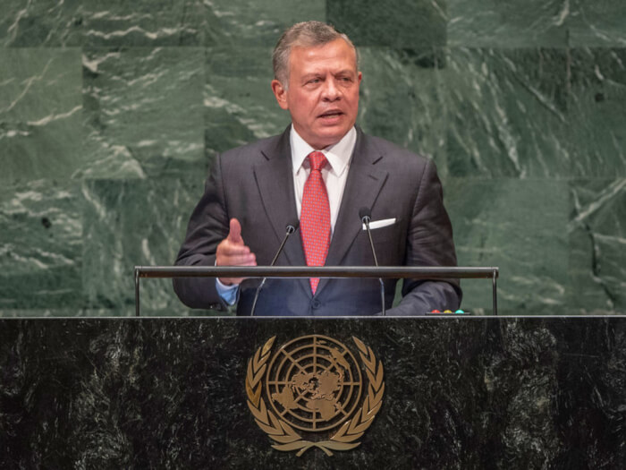 Jordan's King rejects Trump's actions at United Nation speech