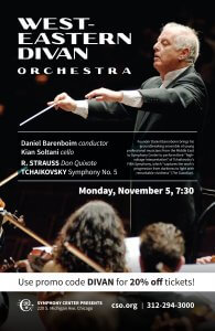 Barenboim brings Middle East ensemble to Chicago Nov. 5 @ Symphony Center