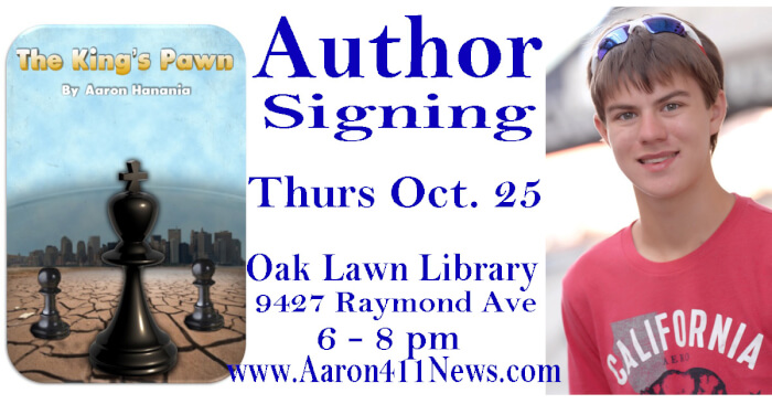 Aaron Hanania book The King's Pawn Author Signing Oak Lawn Illinois