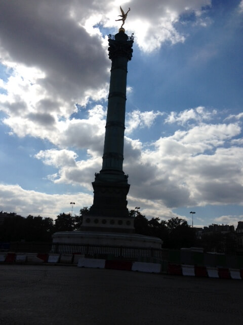 Place de la Bastille with the July Column in the center. Photo courtesy of Abdennour Toumi