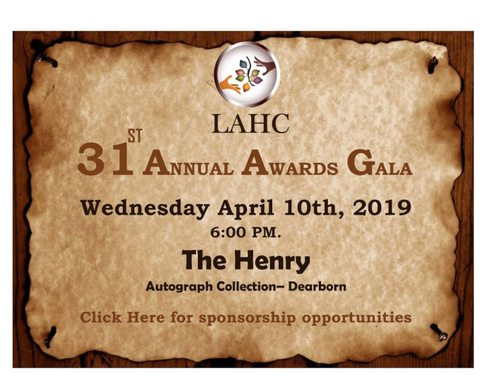 LAHC 31st Annual Awards Gala, Dearborn