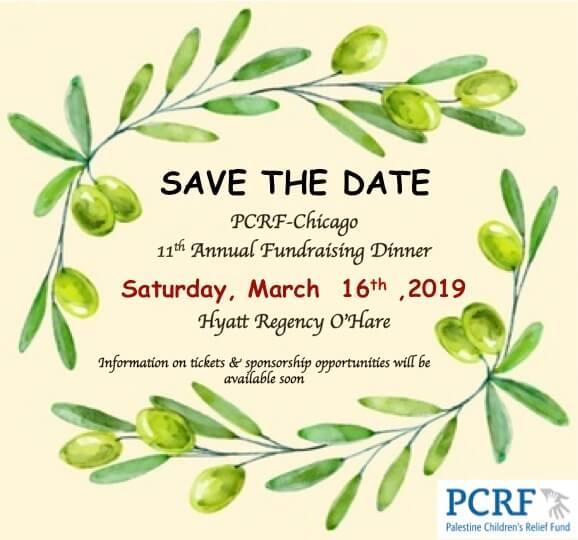 Palestine Children's Relief Fund (PCRF) annual fundraiser March 16, 2019