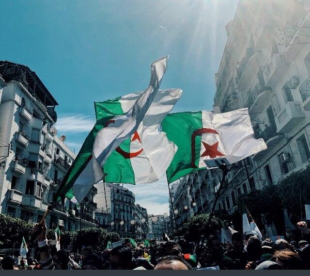 Algiers April 12th March. Photo courtesy of Abdennour Toumi